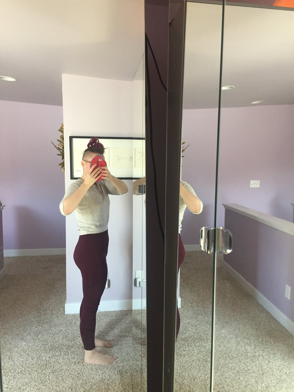 March 25, 2018. After working out at home. My butt has returned.