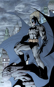 Promotional art for    Batman   #608 (October 2002, second printing) Pencils by  Jim Lee  and inks by  Scott Williams