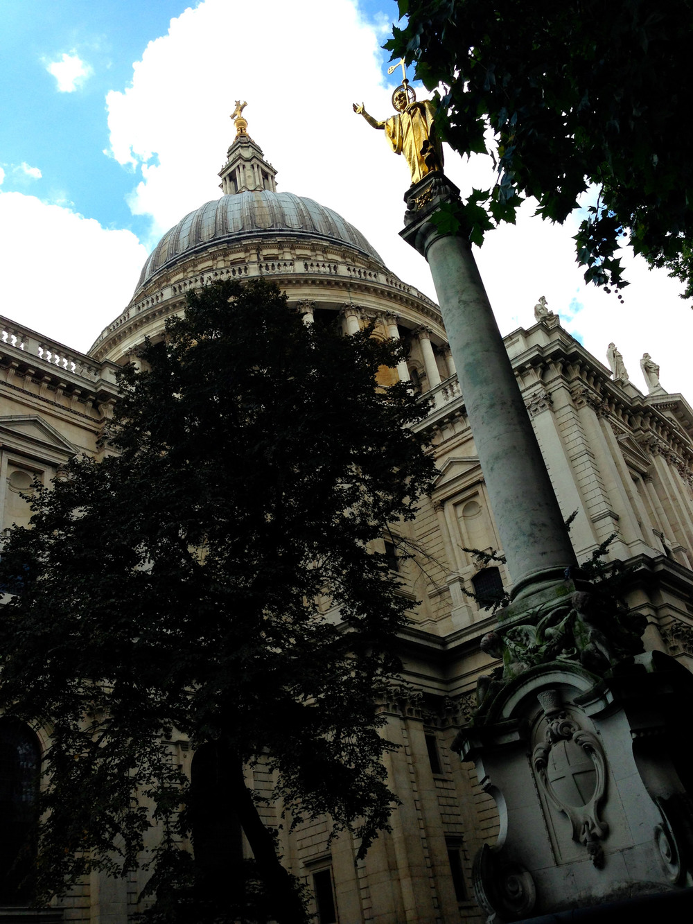 St. Paul's Cathedral from the courtyard