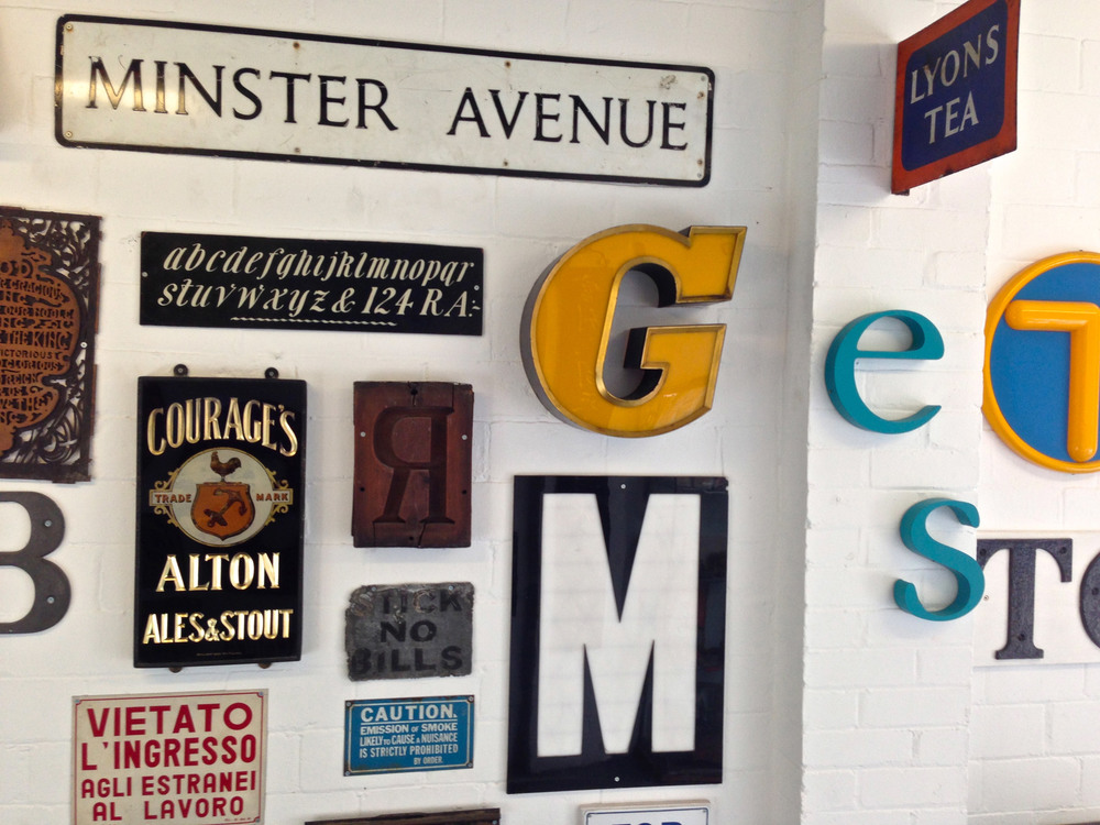 Reading University Typeface Design Department wall