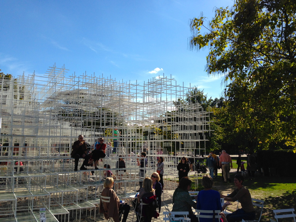 Art installation in Hyde Park