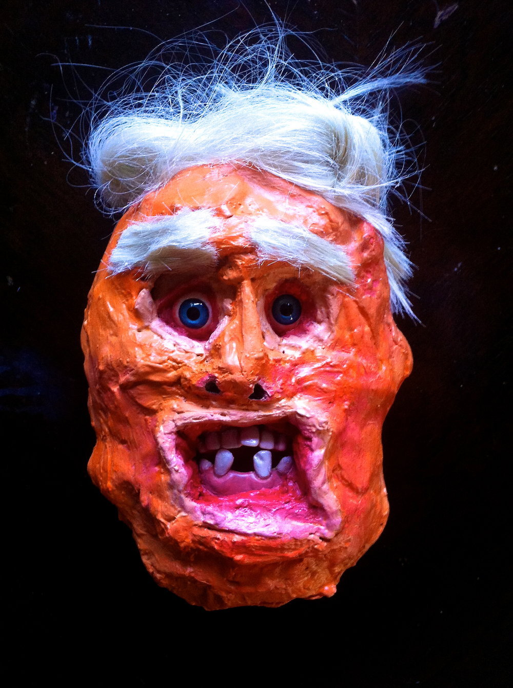 Cheeto Face Butt Fart Asshole Turd Baby Man Boy Trump Head