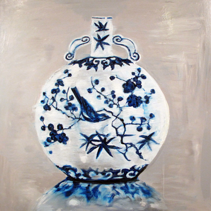 "Ming Garden, 36x36"", oil on canvas, 2013"