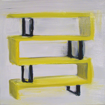 "Shelf, 12""x12"""", oil on canvas, 2013"