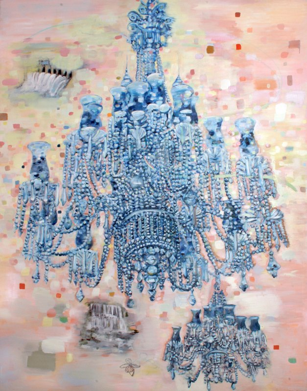 "Plaza Suite, 87 x 62"", oil canvas, 2008-2010"