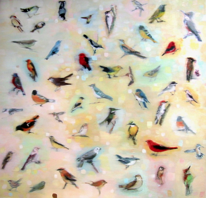 "Air Tide, 48x48"", oil on canvas, 2008-10"