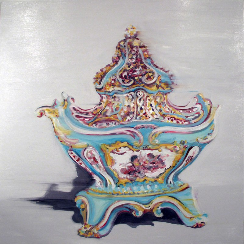 "Sèvres Potpourri, oil on canvas, 36x36"", 2013."