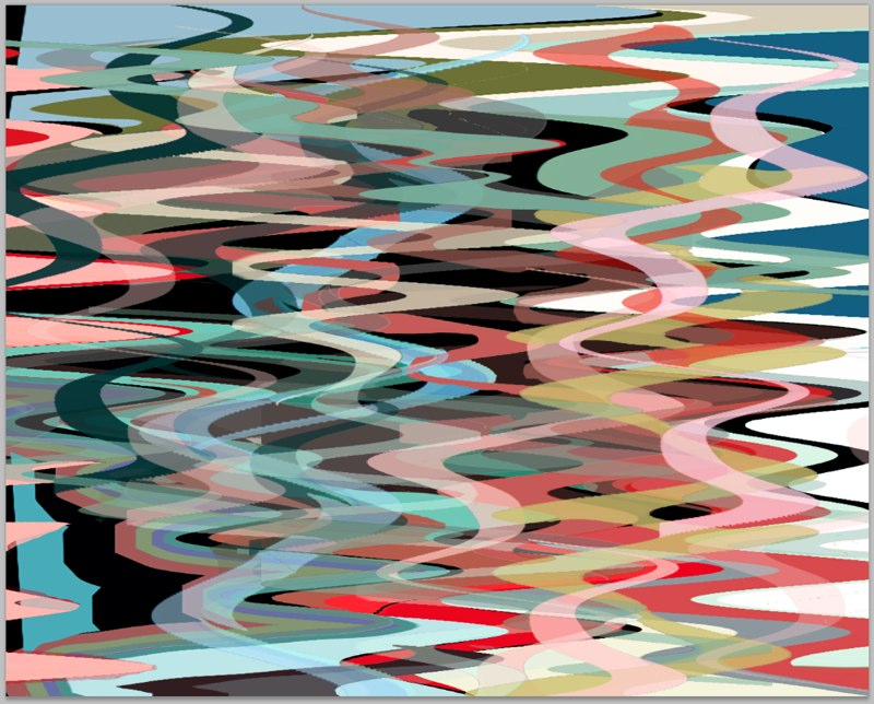 "Orient Wave, Lenticular Print, 16x20"", 2013."