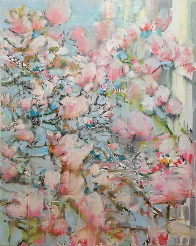 "Magnolia Bergen , oil on canvas,  40x30"", 2014."