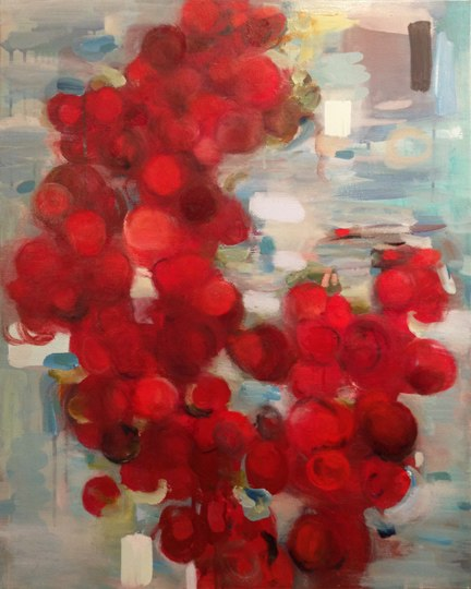 Cherry Blue, oil on canvas, 36x24 inches, 2012. Private collection.