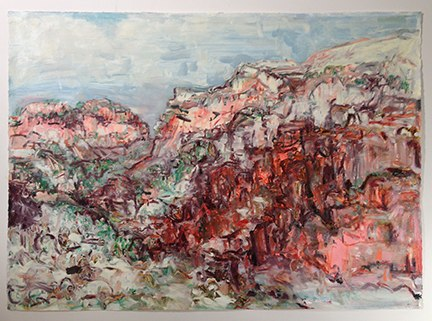"Jemez Mountains , oil on paper, 30x40"", 2014."