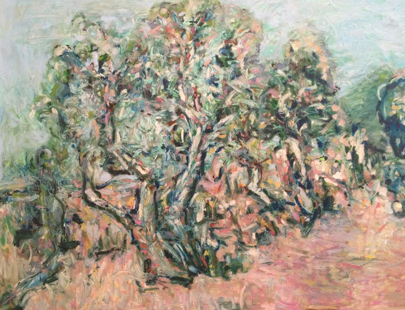 "Northern Juniper on the Gorge , oil on paper , 32x40"" , 2012."
