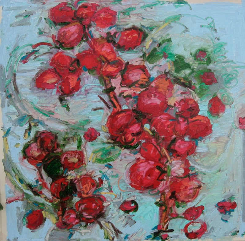 "Cherry Cherry , oil on paper , 24x22"" , 2011. Private collection, NM."