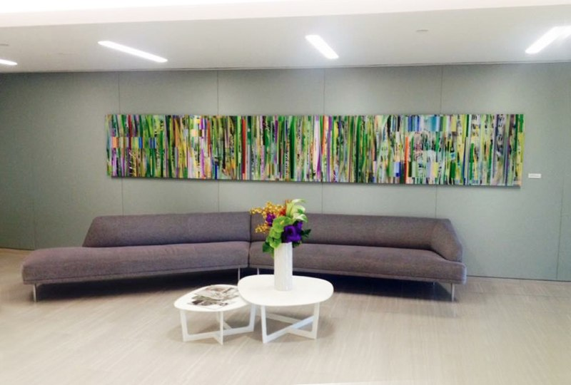 "Moving Wall West , 3D lenticular print installation, 30x192"", 2015, corporate collection, Beverly Hills."