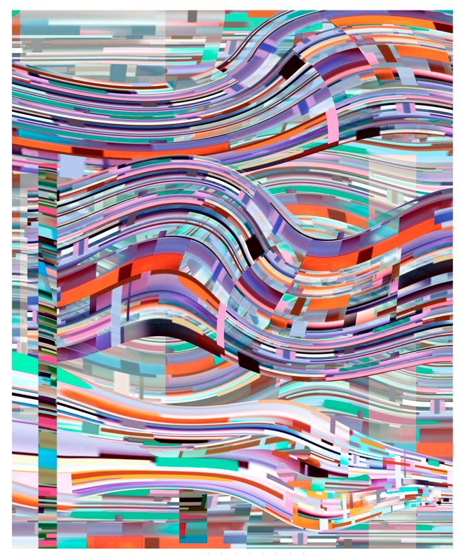 Transit Wave, pigment print, 54x44 inches, 2010-11.