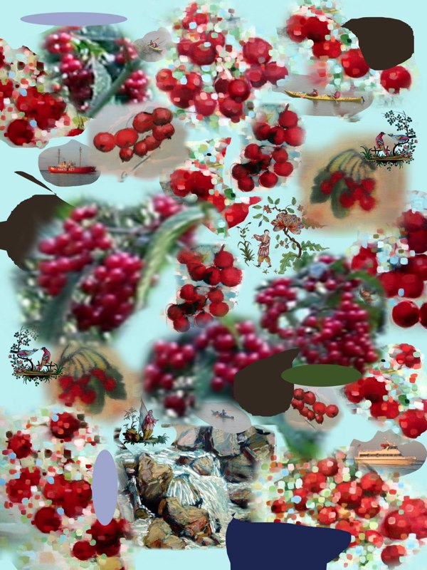 Montage Cherry , archival pigment print on rag,  28x32 inches.