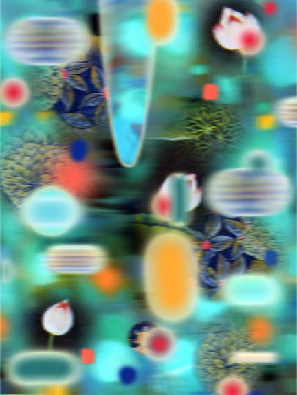 Blue India II, archival pigment print on rag, 41.5x32 inches, 2003.