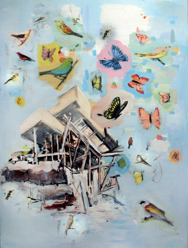 "Usonian  , oil on canvas,   48x36"",   2012. Private Collection."