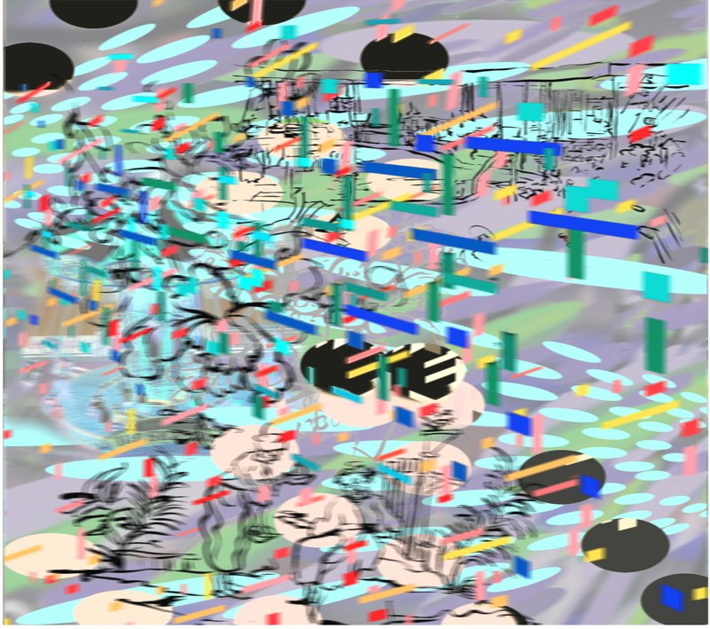 "Host , 3D lenticular print, 19x33"", 2007."