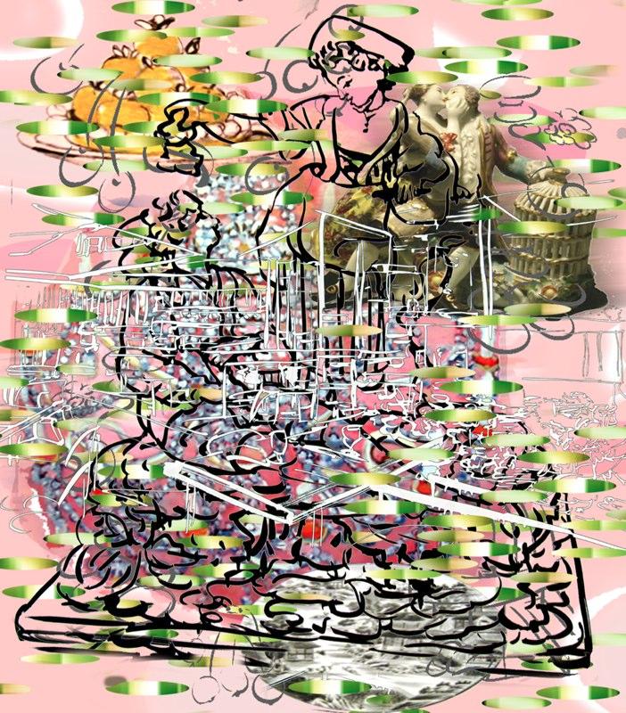 """Crush , 3D lenticular print, 10x9"""", 2008."""