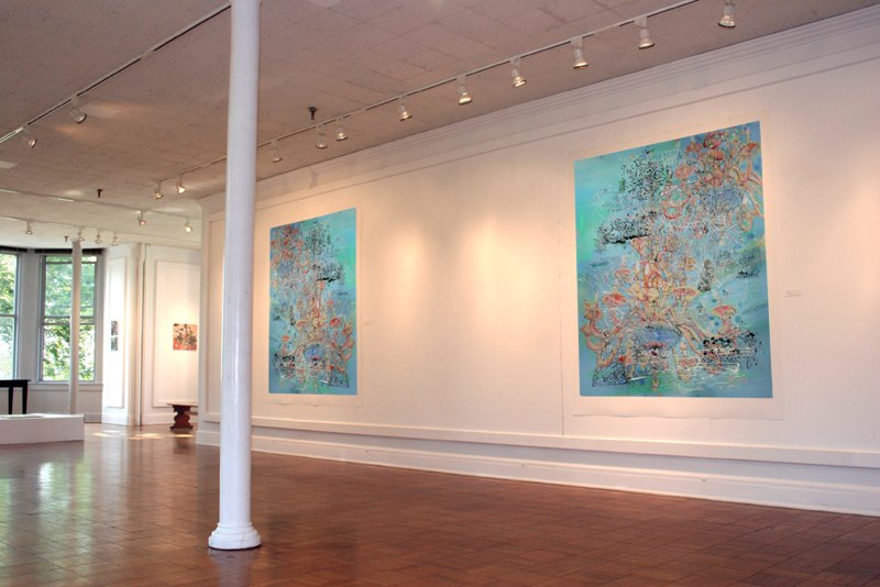 The Floating World Exhibition, Well's College, NY, 2008
