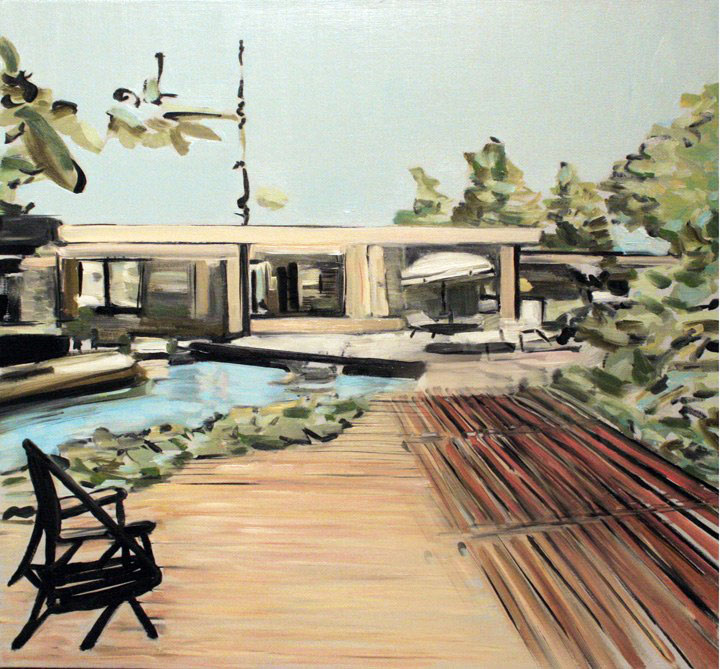 "Neutra Palm Springs, oil on canvas, 24x24"", 2010."