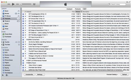 iTunes List view