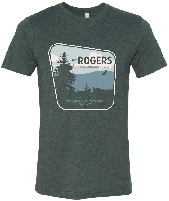 BUY NOW  Mount Rogers Naturalist Rally Tshirts!