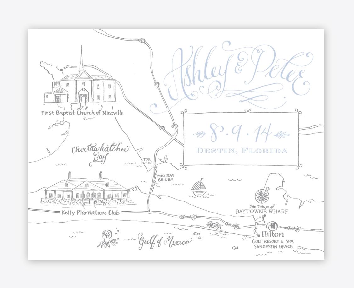 Maps  Kara Anne Paper - Florida map niceville