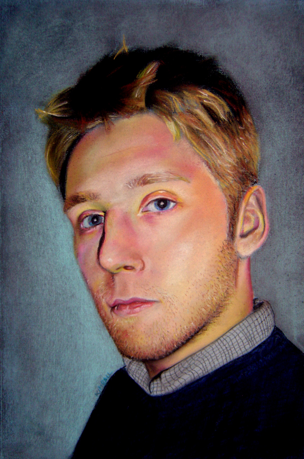 Self-Portrait // pastel on paper // 2005
