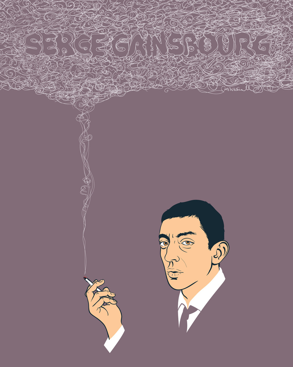 Serge Gainsbourg — Self-initiated poster featuring French musical icon, Serge Gainsbourg