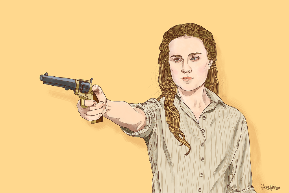 Dolores Abernathy — Self-initiated illustration of Evan Rachel Wood from HBO's Westworld