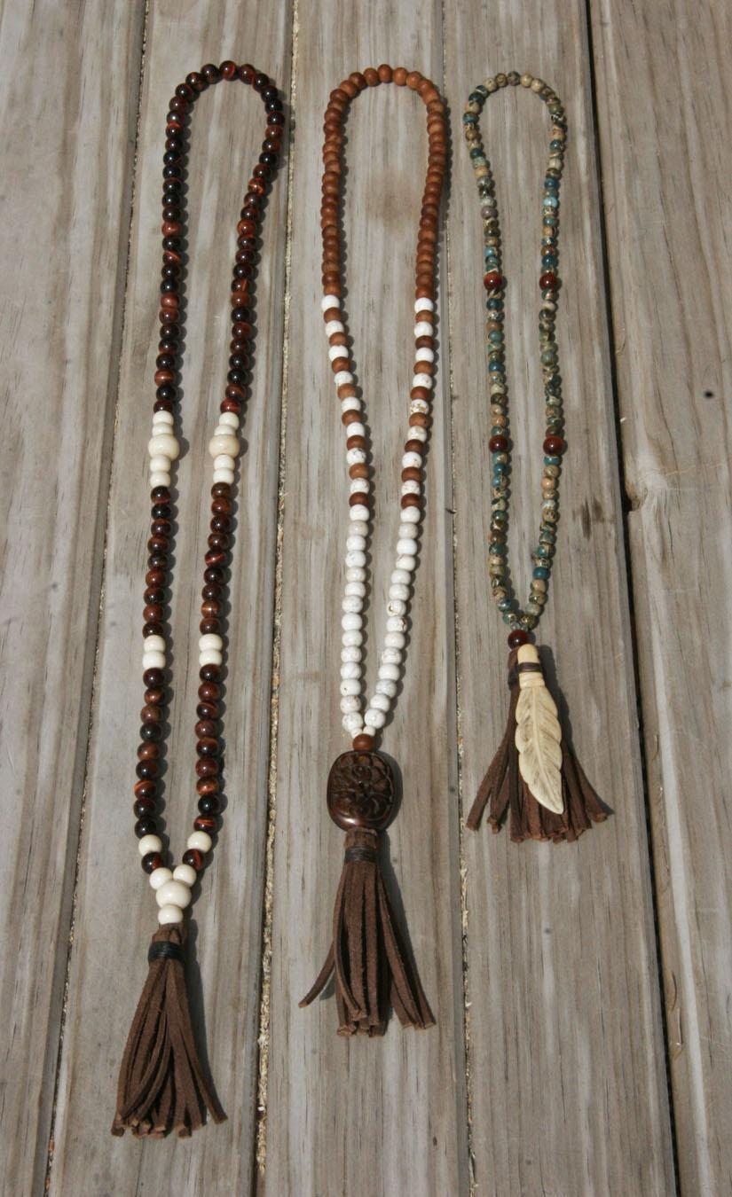 No Mind Malas - from left to right - Perception, Desert Rose, Swani