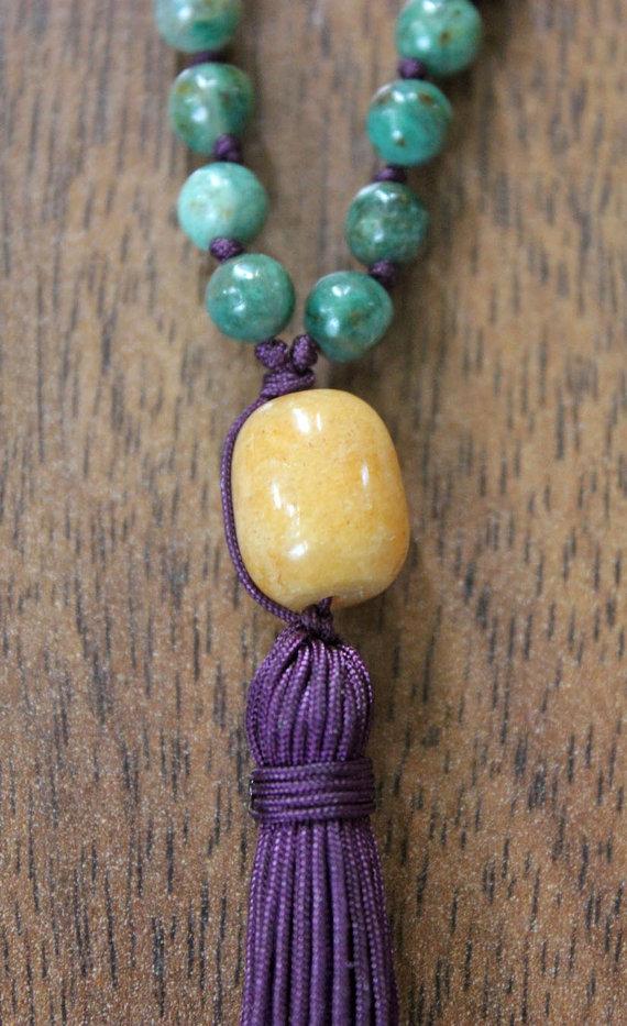 Aventurine Guru bead on ANAHATA male