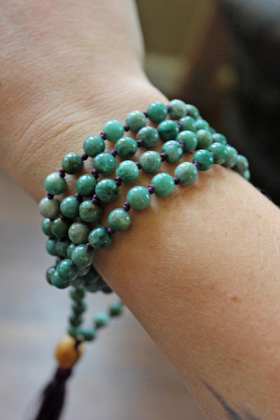 Knotted mala - 6 mm beads