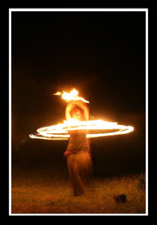 Fire dance, NZ, 2010