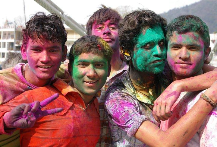 Holi Festival in Rishikesh