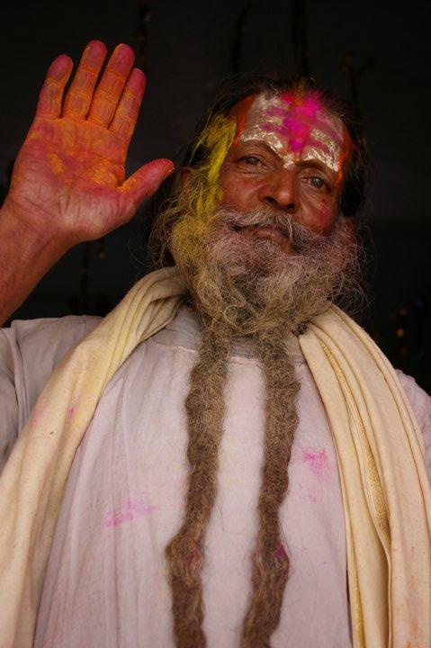 Holi Man at Holi Fest - Rishikesh