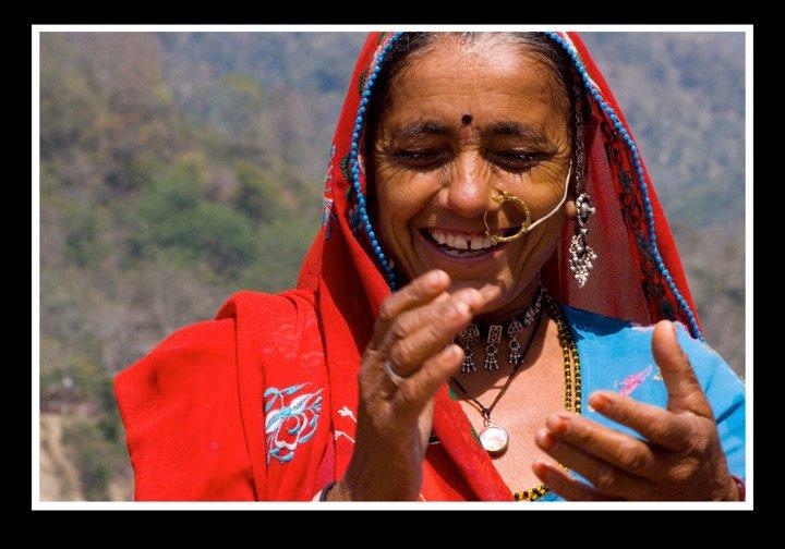 Happy tribal woman in Rish