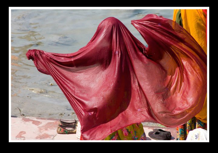 Bathing in the Ganga - Rishikesh