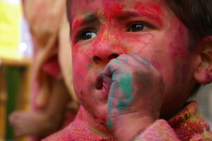 Boy at Holi Fest - Rishikesh