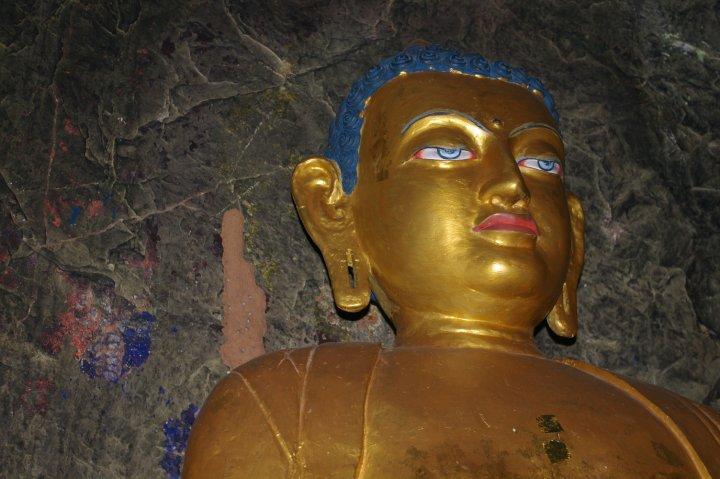 Statue in the cave next to Gautama Buddha's cave, Bodhgaya, Bihar