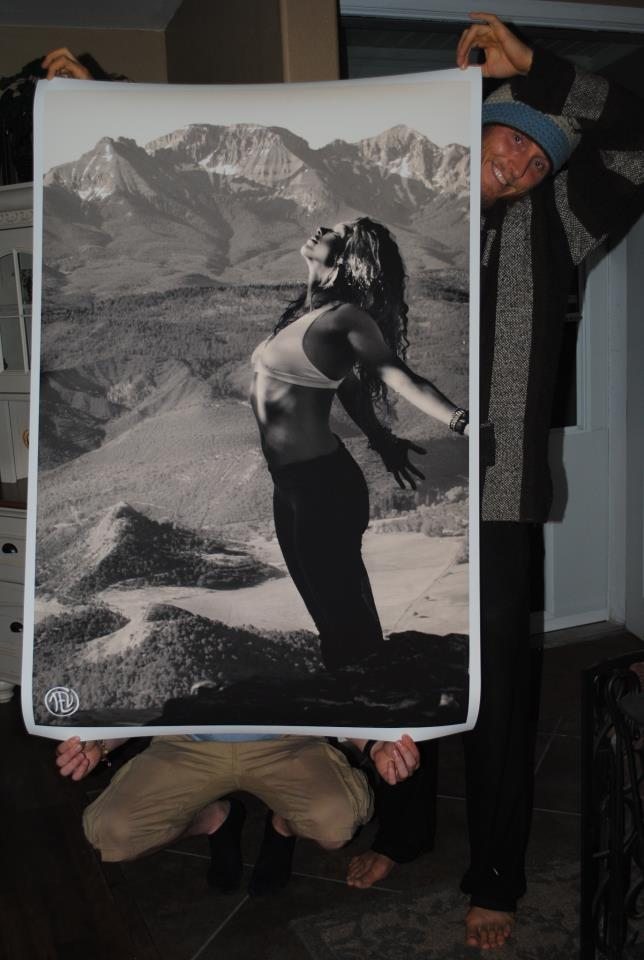 3 x 5 feet photo print to go into R.R. Shakti's new yoga studio, 2012