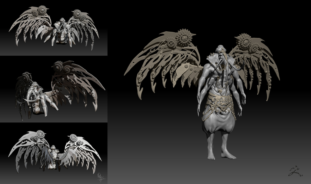 Modeling based on original concept.  Zbrush