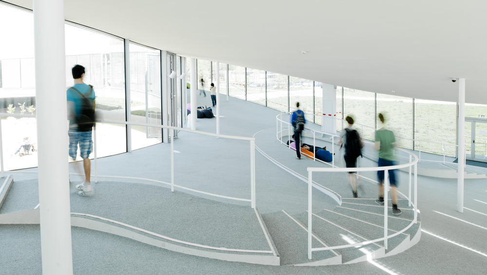 Overview of the Rolex Learning Center by Sanaa