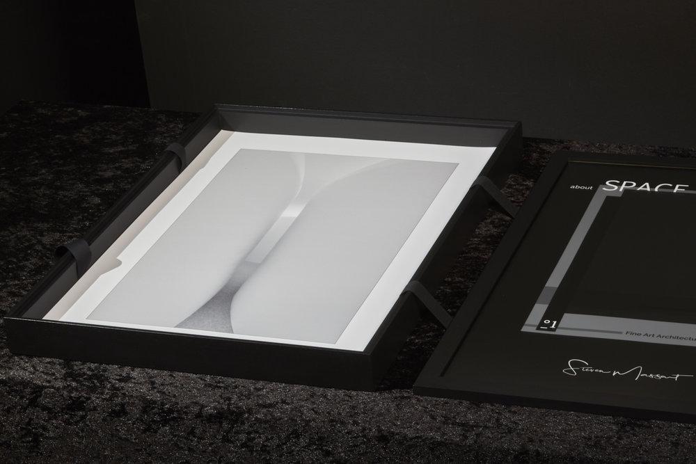 Box met 20 Fine Art Prints op formaat A2 en extra kder