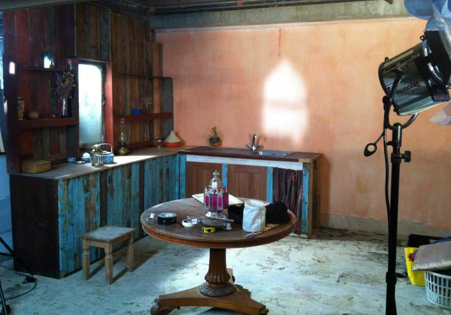The set design and build for short film 'Ruth' 2012