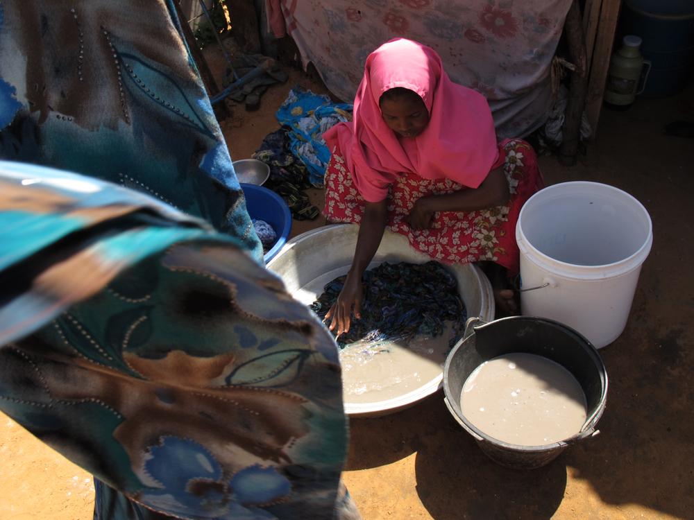 Laundry.  Howl Wadaag IDP camp, Mogadishu, Somalia. August 2011.