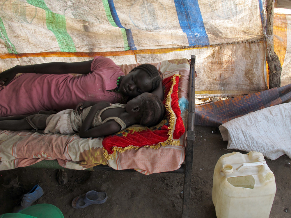 Afternoon nap.  Jamam refugee camp, Maban county, South Sudan. September 2012.