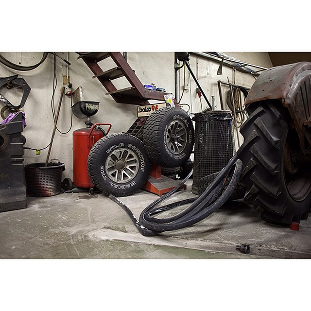 "66°09'14.1""N 18°54'21.9""W, 23/01/2015, 0805 Wild Country tyre, mechanic's workshop, Siglufjördur, Iceland #tyre #carparts #mechanic #wild #Iceland #winter #workshop #garage"